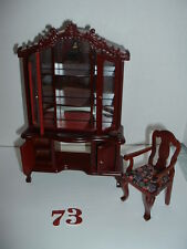 "1/12"" DOLL HOUSE FURNITURE DRESSER AND CHAIR"