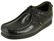 Base London Storm Mens Genuine Leather Moccasin Comfy Soft Casual Shoes Black 43