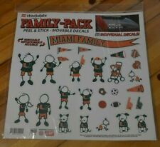 UNIVERSITY of MIAMI HURRICANES ~ FAMILY PACK DECALS ~ NEW in PACKAGE