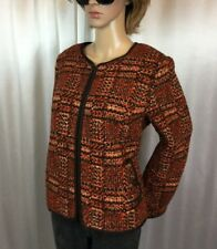 NWT TALBOTS Petite Russet cropped Wool Tweed blazer jacket/coat women's 14