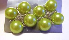 CLIP-ON EARRINGS FAUX PEARL CLUSTER CLIP EARRINGS ASSORTED COLORS 1 INCH