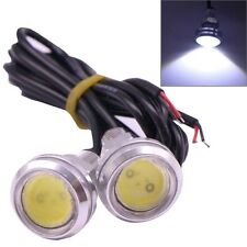 2 PCS 2x 3W 120LM Waterproof Eagle Eye Light White LED Light for Vehicles, Cable