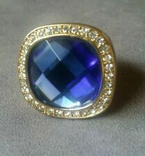 SCAASI BEAUTIFUL Sapphire BLUE CRYSTAL RING Size 9