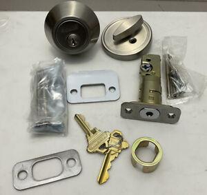 Schlage satin nickel cylinder deadbolt JD60 619