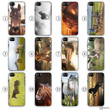 Horse Phone Case, Pony/Equestrian Print on Hard Phone Cover For Apple iPhone