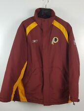 Vintage Washington Redskins NFL Padded On Field Long Coat Jacket Size L Reebok