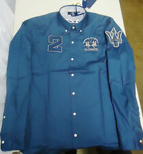 MASERATI AUTHENTIC LA MARTINA ABU DHABI NAVY BLUE SHIRT