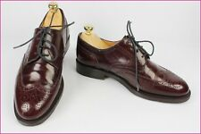 VINTAGE Derby HUGO BOSS Tout Cuir Bordeaux UK 7 / 40,5 TBE