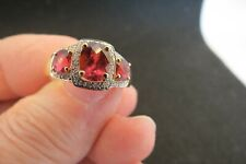 Pink Tourmaline and Diamond ring. 14K gold. Size 9.
