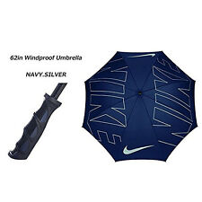 "NIKE GOLF 62"" WINDPROOF UMBRELLA MIDNIGHT NAVY / SILVER NEW WITH TAG!! 17899"