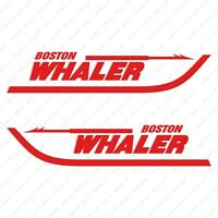 """BOSTON WHALER DECALS 28.5/"""" x 6/"""" RAISED 3D DOMED  STICKERS BOTH SIDES"""