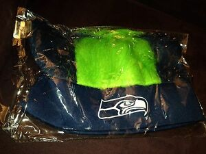 Seattle Seahawks Official Nfl Ticket Holder Only Sga Blue Green Crazy Hair Wig