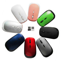 Ultra-Slim 2.4GHz Wireless Mouse Mini USB Optical 2.4G For Laptop PC receiver