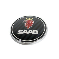 "68mm 2.67"" For SAAB 93 95 Hood Emblem Carbon Fiber Front Round Badge Symbol Logo"