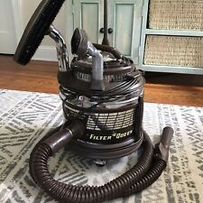 Filter Queen Vintage Brown Rolling Vacuum Model 9377987 *Tested*