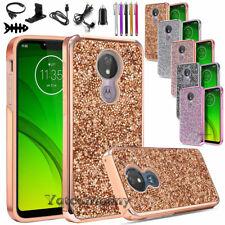 For Motorola Moto G7 Play/G7 Optimo/T-Mobile Revvlry Case Bling Cover+Accessory