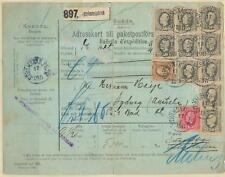 SWEDEN: Parcel to Australia (NSW) 1911, scarce.