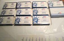 Empty Box Proof set 1999 2000 01 02 03 04 05 06 07 08 09 11 box 11 COA NO Coins