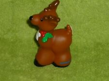 Fisher Price Little People Christmas Head Reindeer with Holly Rare