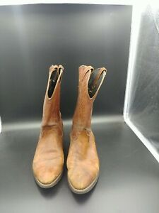 Vintage DISTRESSED Laredo MEN'S Brown Leather Western Cowboy Boots Size 11 US