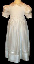 First Communion Dress - Hand Smocked - Caplan - Size 7_Shipping Shipping
