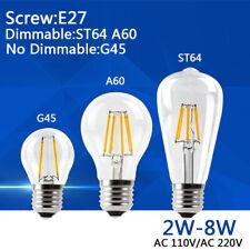 LED Edison Bulb Dimmable/NO Light Retro Globe Lamp 110V/220V 2W 6W 8W Filament