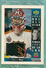 1993-94 Upper Deck McDonald's Hockey Patrick Roy Jumbo Sealed in Cello #/150000