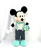 """Rare Collectible 24"""" Mickey Mouse Easter Egg Bow Tie Plush Authentic Disney"""