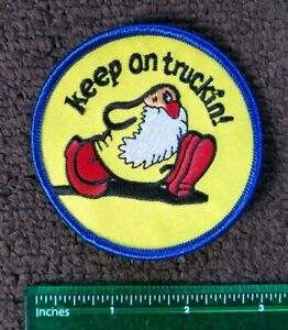 Vintage Style KEEP ON TRUCKIN' Trucking CRUMB Mr. Natural Collectors Patch