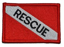 Rescue - Diver Down Scuba Flag - 2x3 Military/ Patch Hook Backing