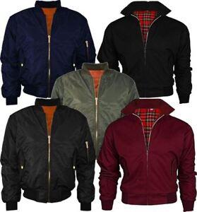Mens Doorman Pilot Biker Bomber Jacket Boys Harrington Zip up Fancy Pocket Coat