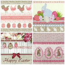4x Tovaglioli di carta per decoupage Craft Pasqua Mix di Colori Pastello