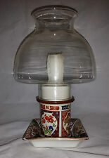 Vintage Oriental Japan Design Hurricane Candle Lantern