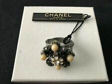 Chanel Gripoix Flower Ring 100% authentic Excellent condition with tags and box