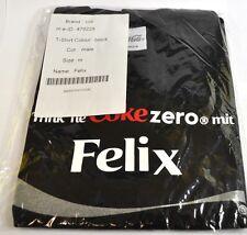 Coca-Cola Coke Felix Camiseta negra Tamaño L Nombre de pila con