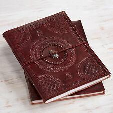 INDRA Fair Trade handmade XL toppa cucita lapidate leather photo album