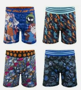 Boys Space Jam Tune Squad Underwear Boxer Briefs Athletic 4-Pack Size 6 NEW