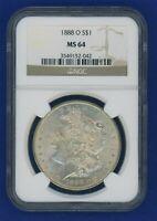 1888 O NGC MS64 Morgan Dollar $1 Silver Better Date 1888-O NGC MS-64