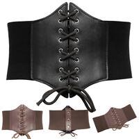 Fashion Women Waist Belt Wide Leather Elastic Corset Waistband Dress Belt