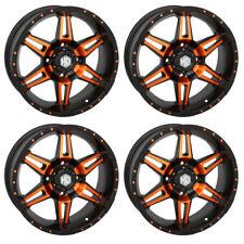 4 ATV/UTV Wheels Set 14in STI HD7 Orange 4/156 4+3 1KXP