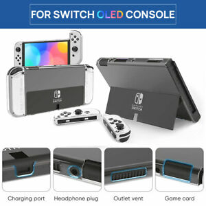 Fr Switch Nintendo OLED Console Clear Case Slim Heavy Duty Shockproof Hard Cover