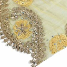 Rotal Gold Wedding Party Dress Cloth Bead Embroidery Lace Fabric by 5 Yard NEW