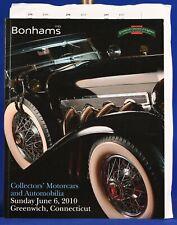 Bonhams Auction Catalog Automobiles June 2010 Greenwich Connecticut