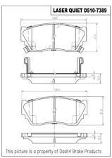 Disc Brake Pad Set-Laser Quiet Ceramic Pads Front Pronto LCD510