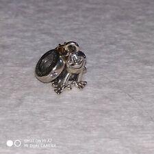 Authentic Pandora Disney Princess Tiana Frog Prince Dangle Charm #768740C01