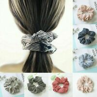 Chic Women Elastic Hair Rope Ring Tie Scrunchie Ponytail Holder Stripe Hair Band