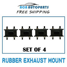 4 x FOR TOYOTA LANDCRUISER RUBBER EXHAUST MOUNTS 40, 50, 60, 70, 80, 100 SERIES