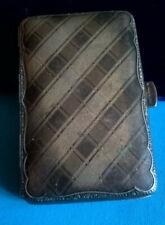 Old box cigarette case holder kraft alpacca/antique silver box