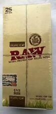 "RAW Genuine 1 1/2 Size NEW ""ORGANIC HEMP"" Cigarette Rolling Papers 25 Pk"