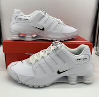 Nike Shox NZ EU White Black 501524-106 Triple White Mens Size
